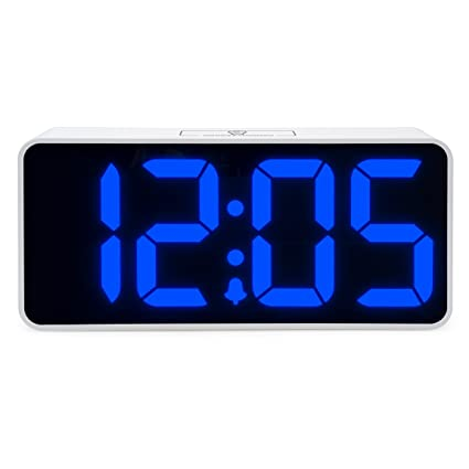 JCC Jumbo LED Digital Alarm Clock   Desk, Office And Bedroom Alarm Clocks  With Touch