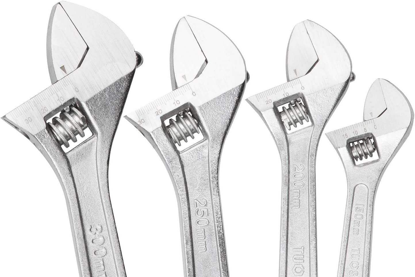 A Industrial Grade Shifter Movable Spanners Selected 4pcs Heavy Duty Adjustable Wrench Set 6-inch, 8-inch, 10-inch, 12-inch