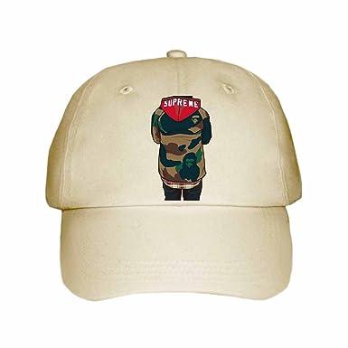 9250cd177ca Supreme Bape Cap Hat (Unisex) (Khaki)  Amazon.co.uk  Clothing