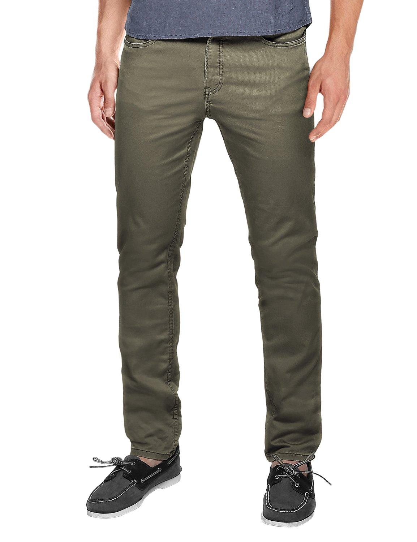 Match Men's Slim Fit Straight Leg Casual Pants(42, 8032 R-Green)