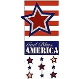 Evergreen God Bless America Star Garden Flag, 12.5 x 18 inches