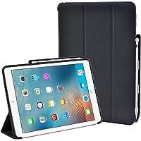 ToHayie Premium PU Slim Fit Flip Folio Case w/ Apple Pencil Holder (Black)