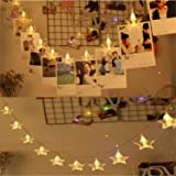Satyam Kraft 10 LED Warm White Star LED String Lights for Decoration Christmas Light Diwali Lights for Decoration