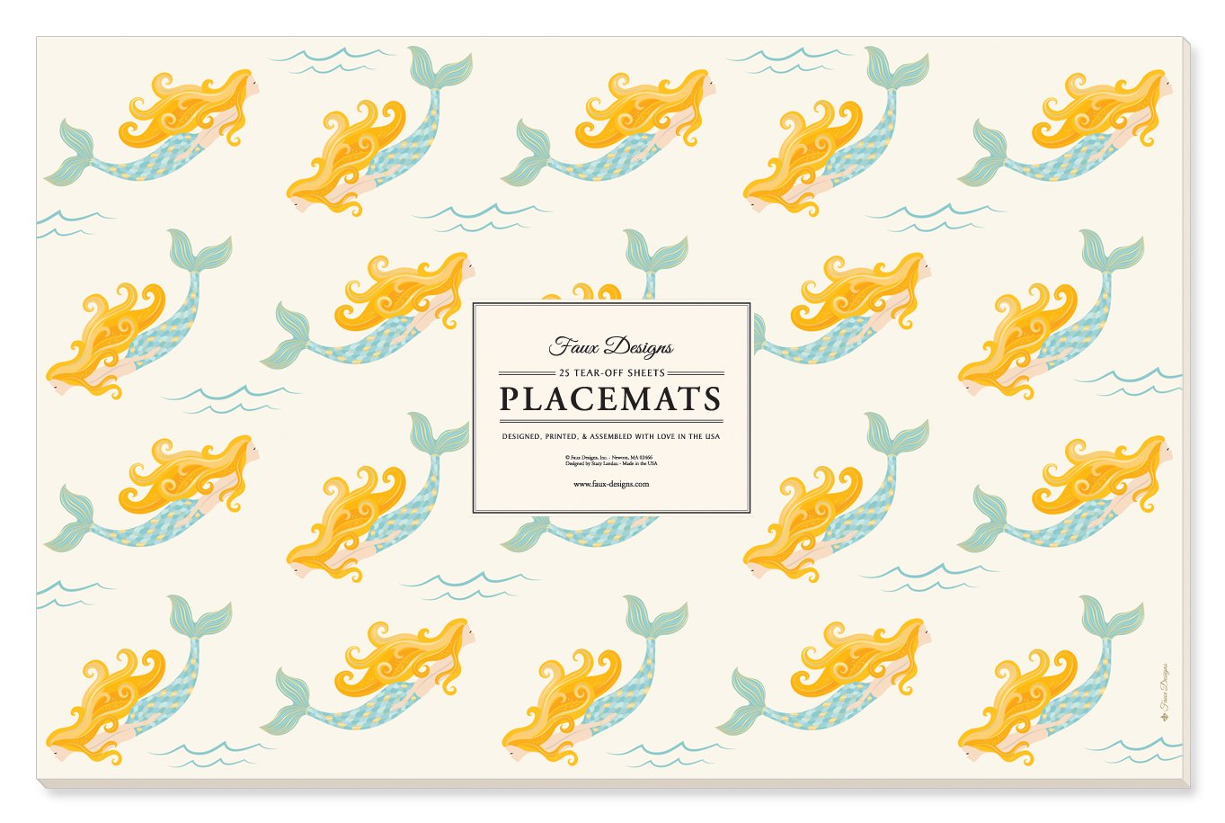 Faux Designs Paper Placemats - Mermaid