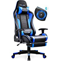 GTRACING Gaming Chair with Footrest and Bluetooth Speakers Music Video Game Chair Heavy Duty Ergonomic Computer Office…