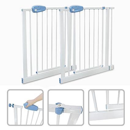 d3560ae5a390 Todeco - Barrera de Seguridad para Bebés, Barrera de Seguridad para Puerta  Ajustable - Ancho