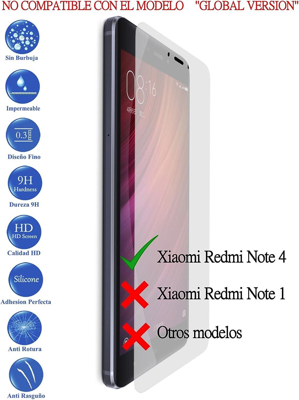 Todotumovil Protector de Pantalla Xiaomi redmi Note 4 de Cristal Templado Vidrio 9H para movil: Amazon.es: Electrónica