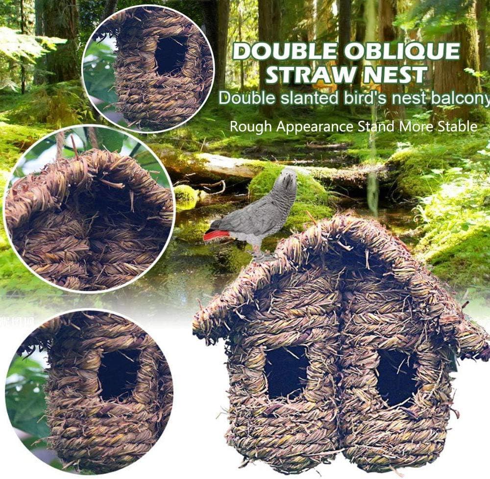 Gazon Naturel Paille Tissée Hanging birdhouses Jardin Extérieur Mangeoire Pet Nest