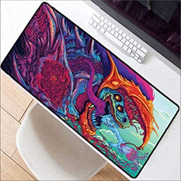 WHFDSBD800X300 Large Lighting Gaming Mousepad XL Grande Mouse Pad Cs Go Hyper Beast for Pc Computer
