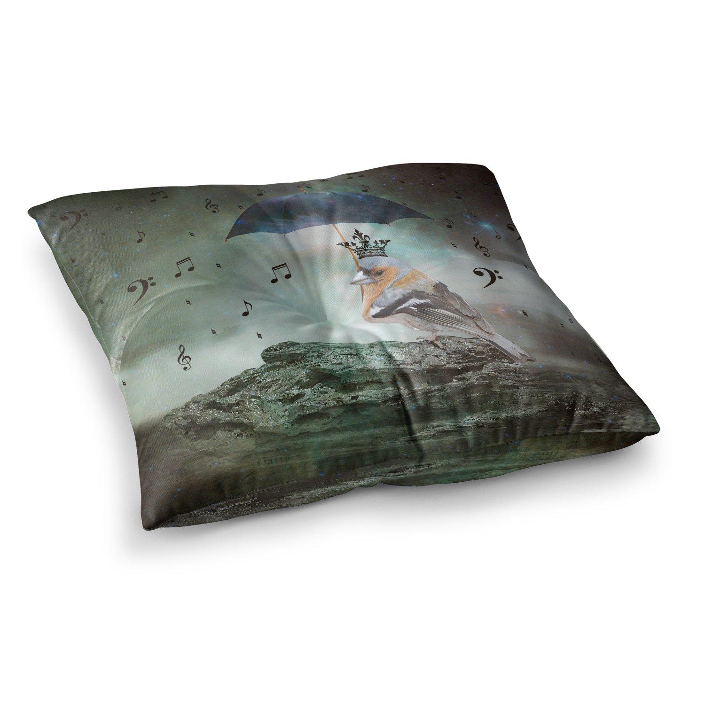 Kess InHouse Suzanne Carter Umbrella Bird 23 x 23 Square Floor Pillow