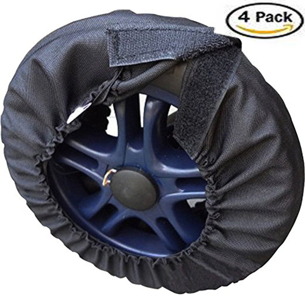 Da Jia Inc 4pcs Universal Stroller Pram Pushchair Wheel Cover for Diamteter 4.7-6.2