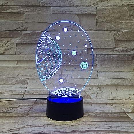 Sistema Galaxy 3d wangZJ/Regalo para niños / 7 colores/Luz ...