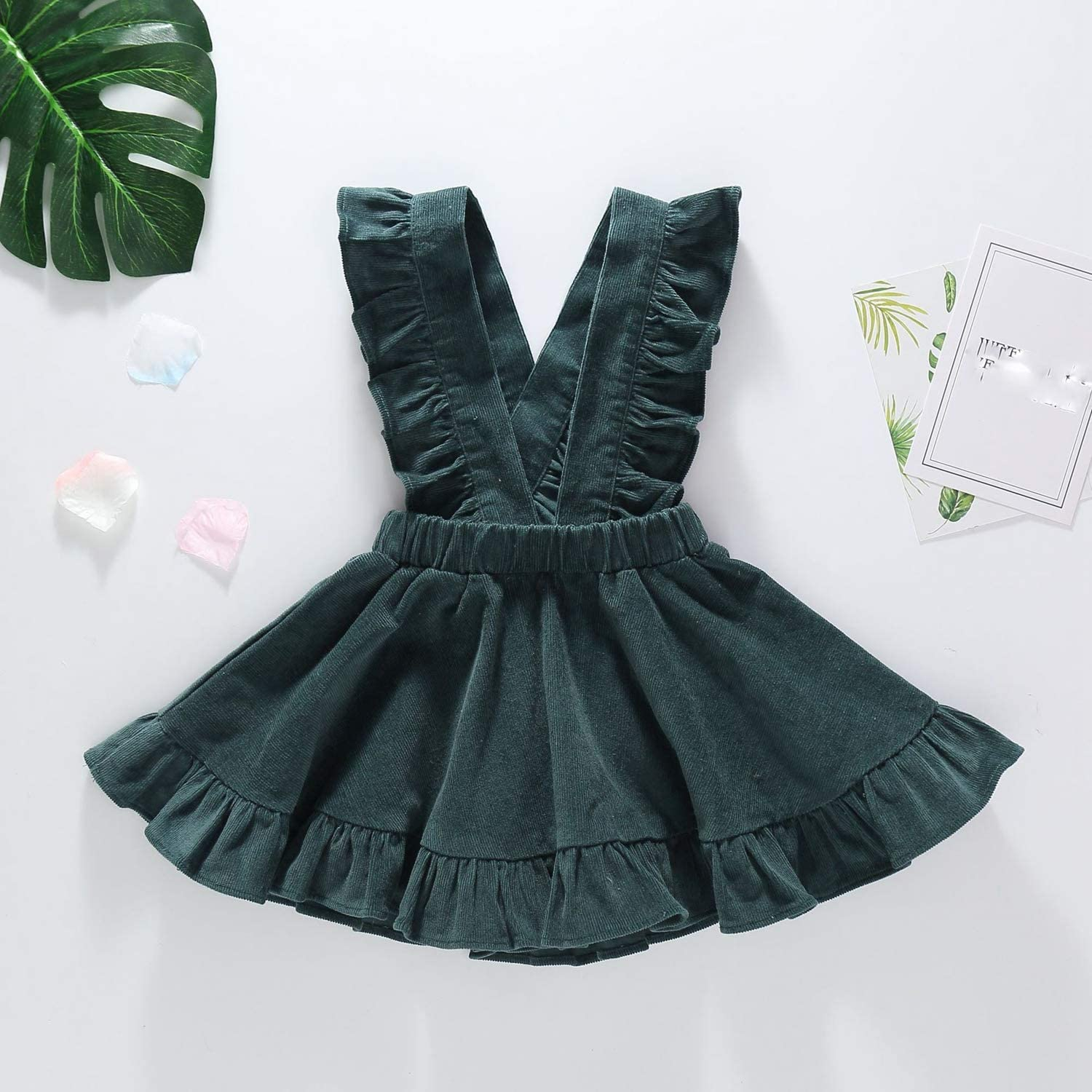 New Baby Outfit Toddler Baby Kids Girls Infant Strap Suspender Skirt Overalls Outfits Summer Girl Clothes 1-3 Years Army Green
