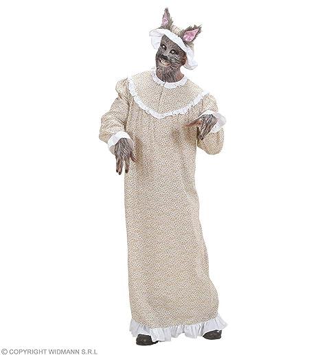 2c8e06abe448 WIDMANN WDM71673 - Costume Nonna Lupo, Beige, Large: Amazon.it ...