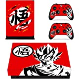 Vanknight Xbox One X Console Remote Controllers Skin Set Dragon Ball Vinyl Skin Decals Sticker Cover for Xbox One X(XB1 X) Co