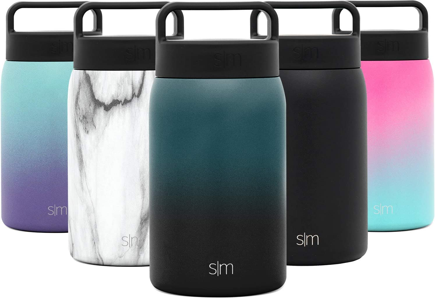 Simple Modern Provision Insulated Food Jar with Handle Lid - 24oz Vacuum Insulated Stainless Steel Thermos Leak Proof Storage Container Flask for Adults, Men and Women Ombre: Moonlight