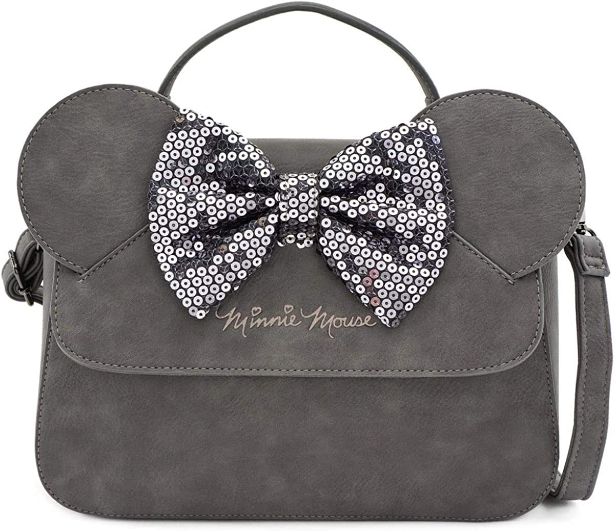 B07YGPV7D1 Loungefly x Minnie Mouse Sequin Bow Crossbody Bag 71p6qFRLdNL