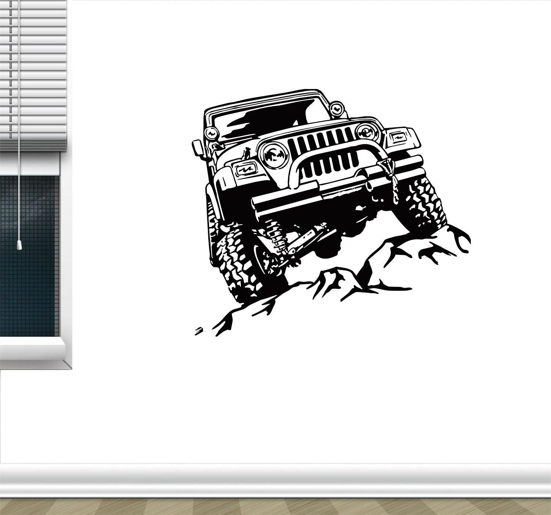 Cover Area 30 X 24 Inch Wall Sticker Jeep Sticker Removable Wall Decor
