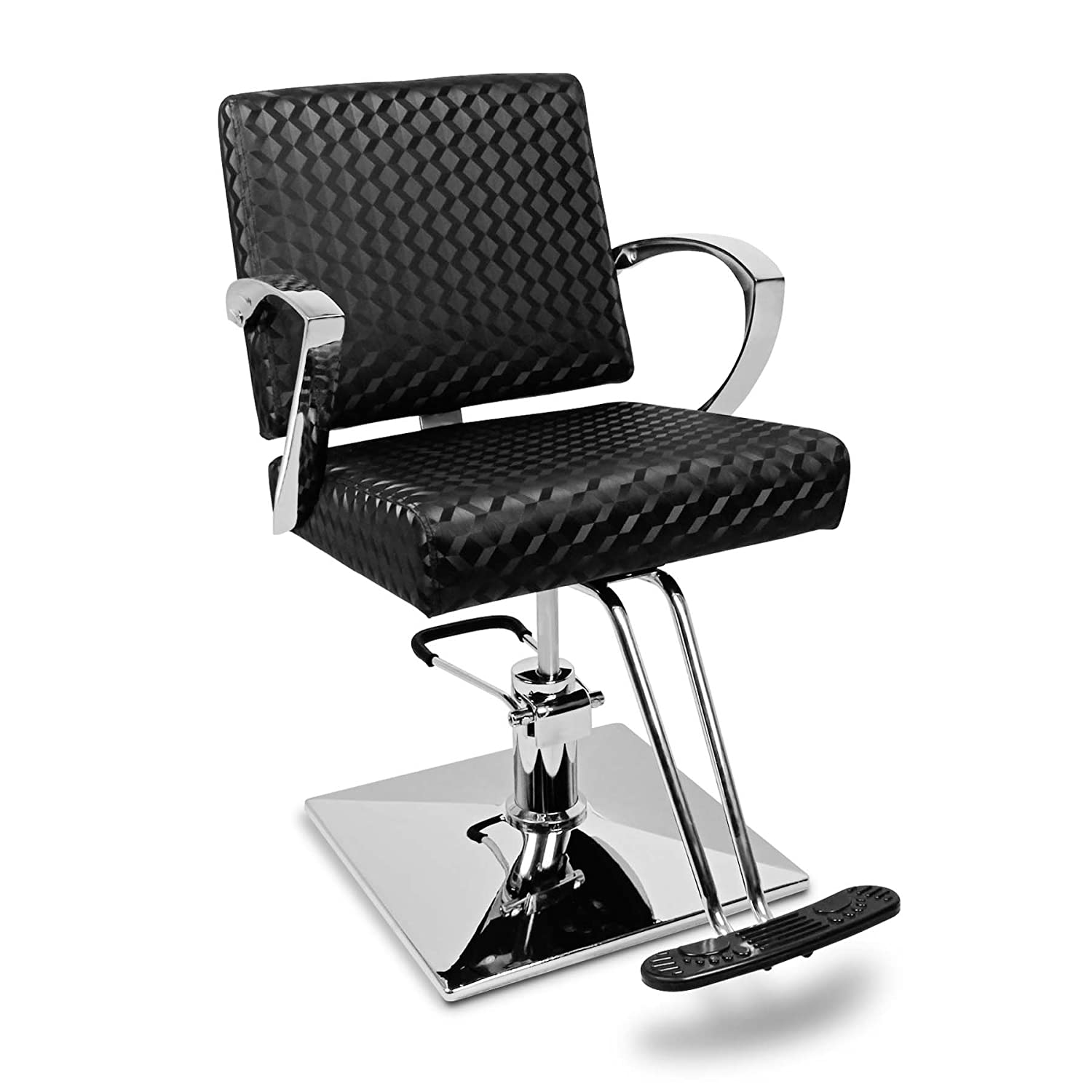 Salon Barbers Barber Chair Styling Tattoo Hairdresser Beauty Hollywood Black BARBER-CH-S03-BK