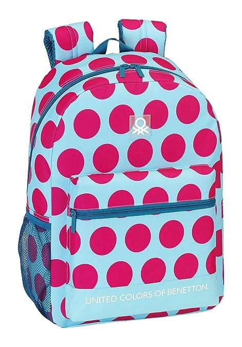 Safta 077023 Benetton Dots Mochila Tipo Casual, Color Fucsia y Azul: Amazon.es: Zapatos y complementos
