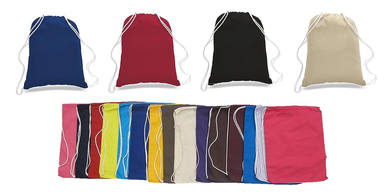 GREAT DEAL 。( 24パック色)予算Friendlyスポーツドローストリングバックパック% 100コットンバッグforスポーツ、ジム( Assorted ) B0773TFCFD