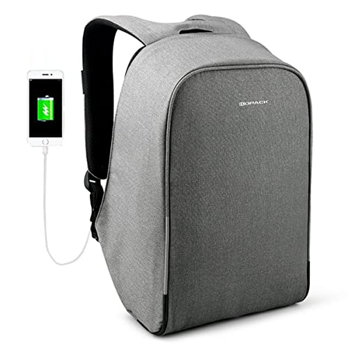 Kopack Waterproof Anti Theft Laptop Backpack with USB Charging Port Business Travel Backpack bag for Men Women Airport Friendly 15.6 inch Grey