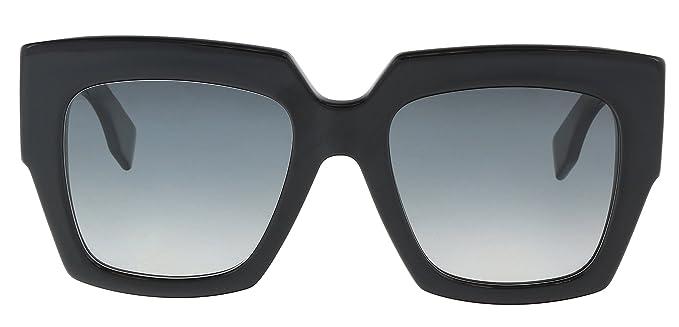 Fendi Damen Sonnenbrille FF 0263/S 9O 807, Schwarz (Black/Grey), 52
