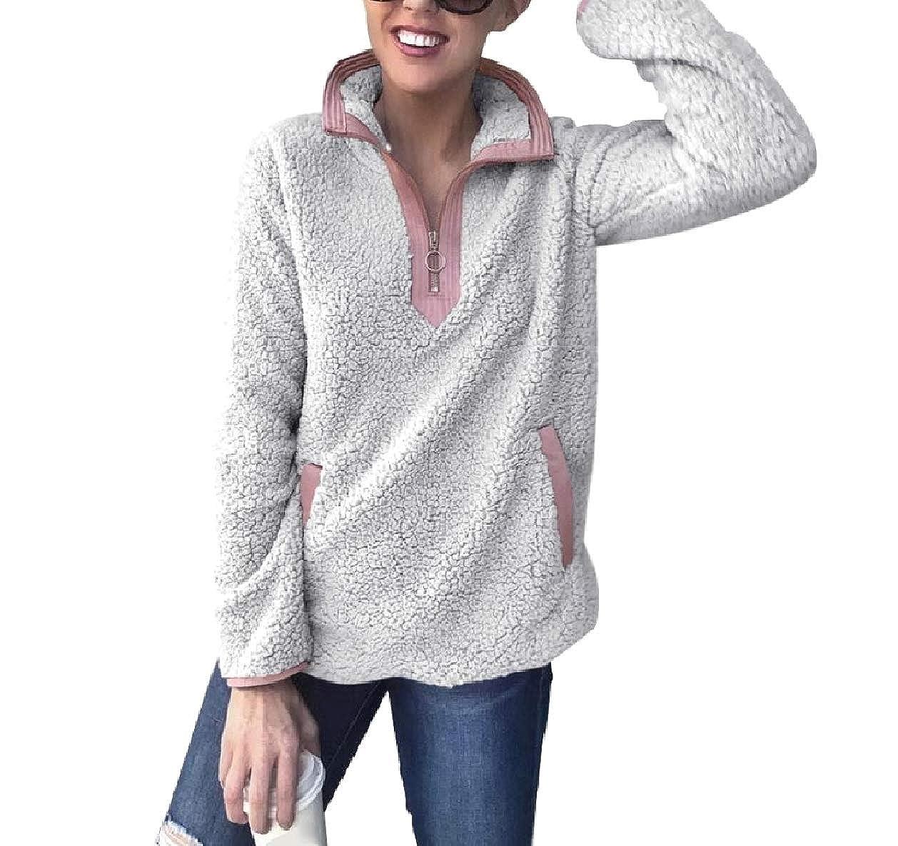Tootless-Women Fashionable Stitch Kanga Pocket Workout Loose Sweatshirts