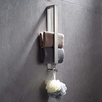 Chrom Lolypot Edelstahl Handtuchhalter Handtuchstange Ohne Bohren Badetuchhalter kleber G/ästehandtuchhalter Selbstklebend G/ästehandt/ücher Handtuch Halter 40cm f/ür Badezimmer