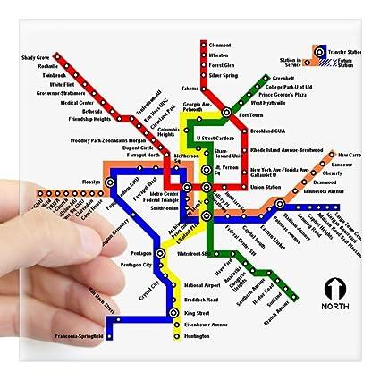 Amazon Com Cafepress Dc Metro Map Sticker Square Bumper Sticker Car