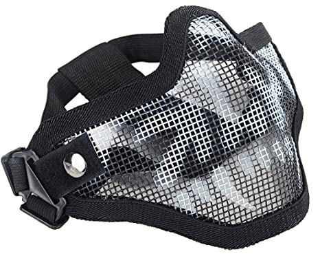97d8c6ba0352 Buy Coxeer Mesh Half Face Skull Mask Striker Steel Airsoft Mask Tactical  Lower Face Mask Mesk Mask Online at Low Prices in India - Amazon.in