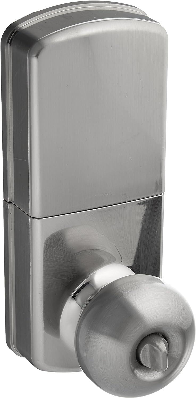 MiLocks WKK-02SN Digital Door Knob Lock with Keyless Entry via Remote Control for Interior Doors, Satin Nickel