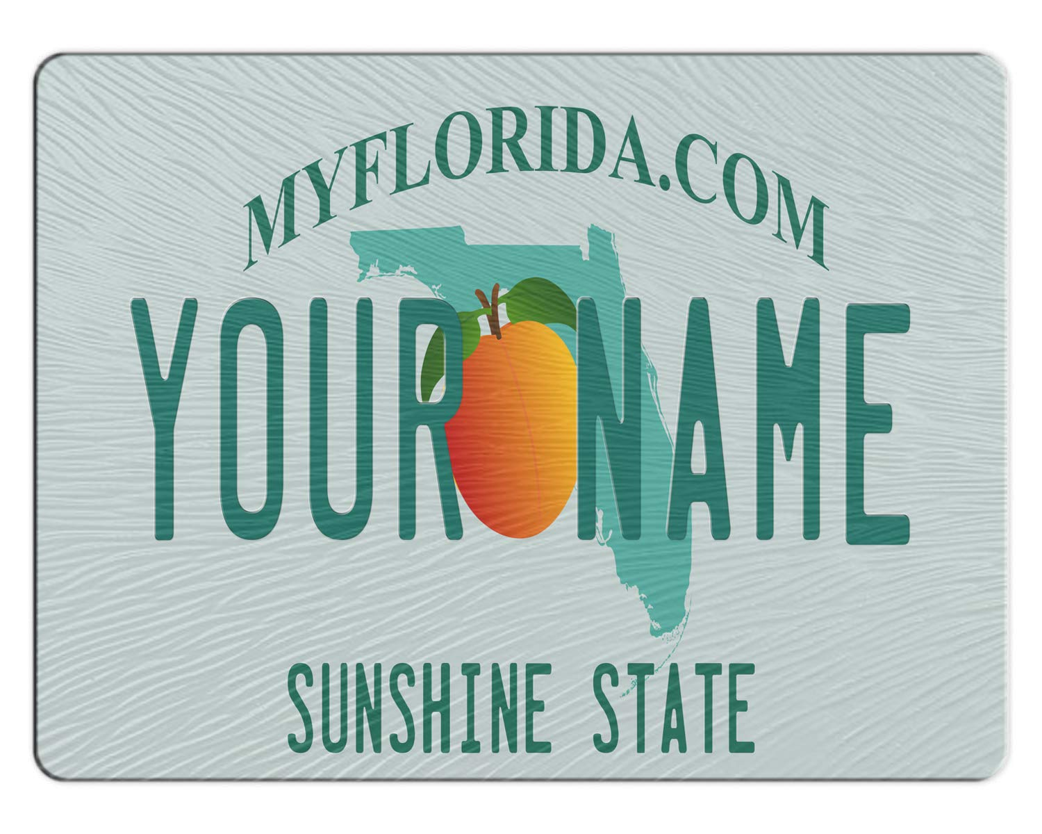 BRGiftShop Personalized Custom Florida State License Plate 11x15 Glass Cutting Board