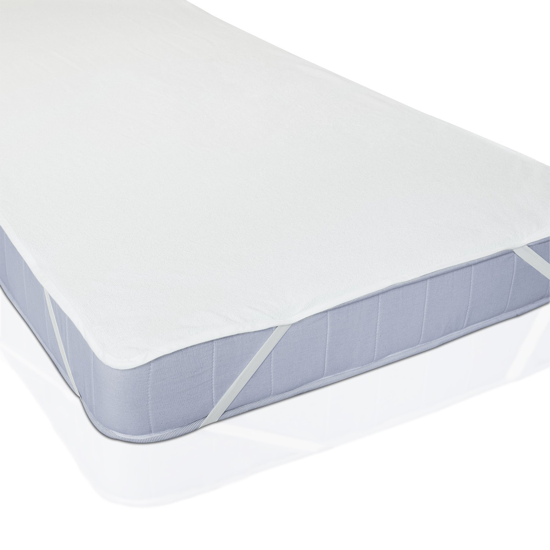 Rivenbert Protège-Matelas Plat À Élastiques Blanc 90 X 200 cm by
