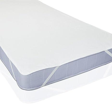 DeliaWinterfel Protector de colchón con elásticos, tamaño 90 x 200 cm, protección eficaz by