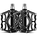"""Terra Hiker Bike Pedals, 9/16"""" Bicycle Peda, Aluminium Alloy Flat Pedal with Three Bearings for MTB BMX (Set of 2)"""