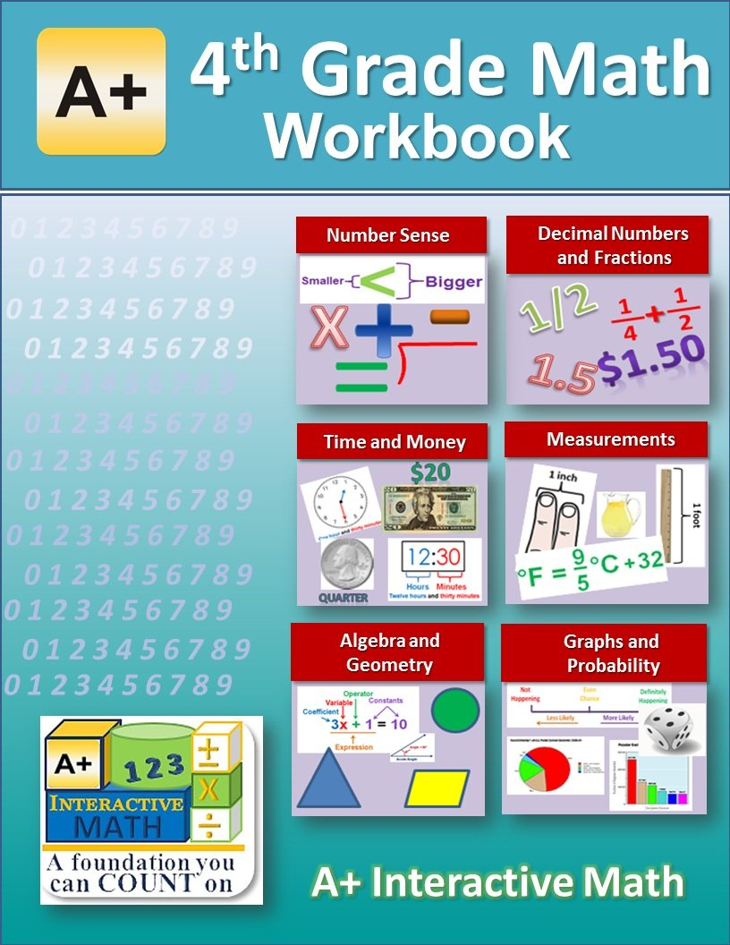 4th Grade Math Workbook (Printed B&W Plasti-coil bound) (143