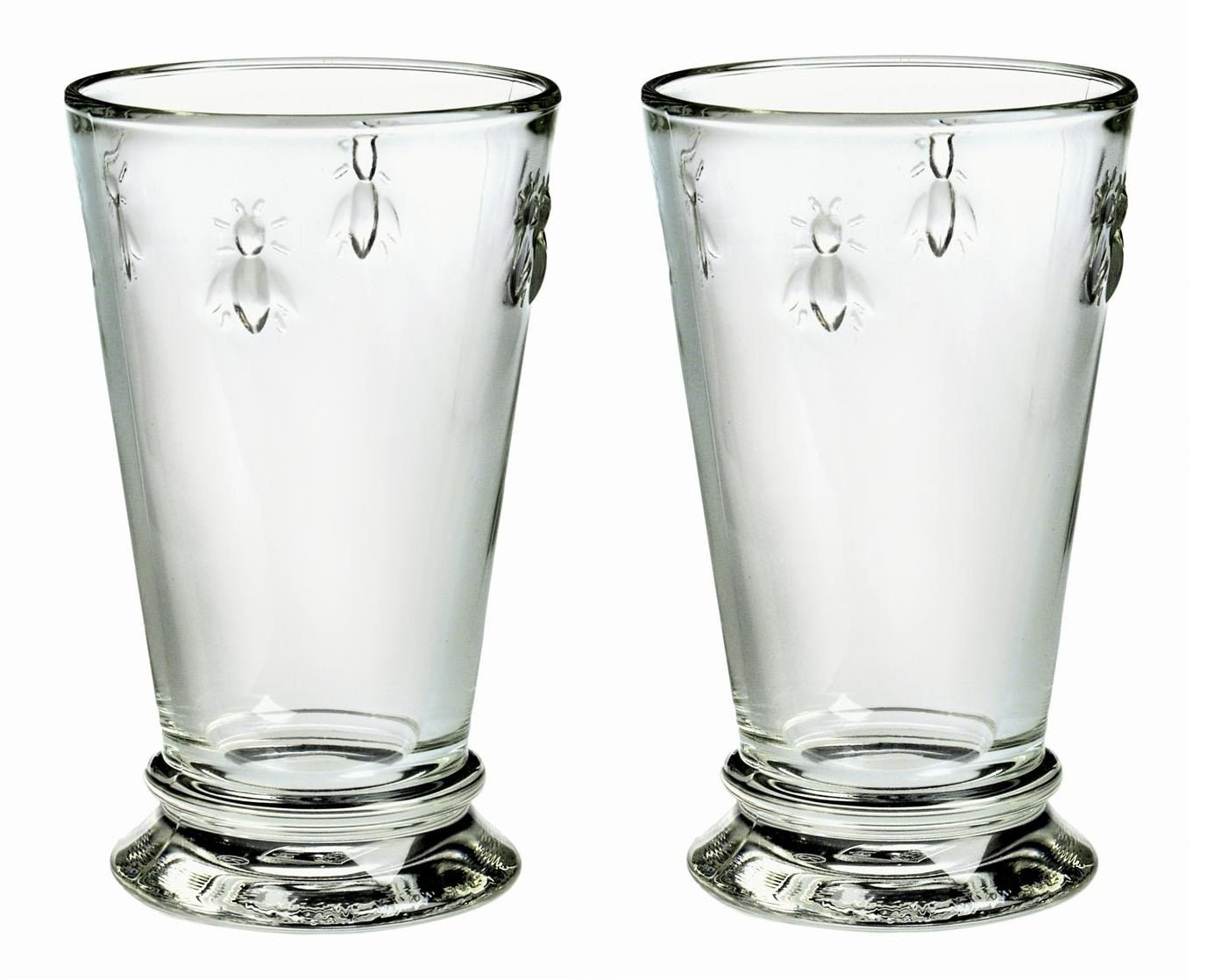 La Rochere Bee Glass HighBall Tumbler Set of 2, 12 floz