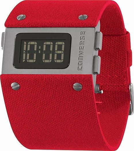 Converse VR012-650 - Reloj unisex de cuarzo, correa de textil color rojo: VR12-65: Amazon.es: Relojes