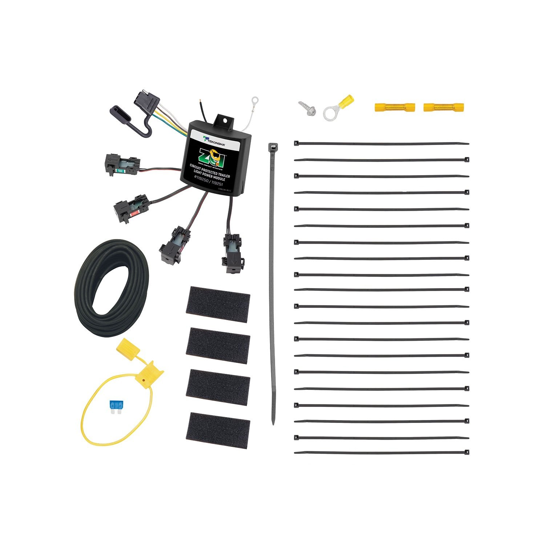 Tekonsha 119251 Zci Zero Contact Interface Universal Custom Fit Vehicle Wiring Trailer Hitch Converter 4 Flat Modulite Kit 1 Pack Automotive