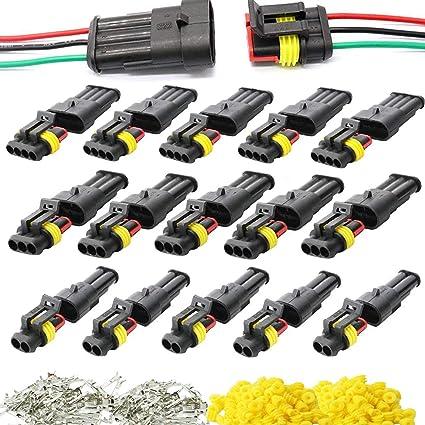 15 kit de voiture Fil Connecteur étanche électrique Terminal pour Auto Moto 1