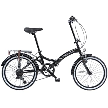 Bicicleta plegable para bicicleta Viking Easy Street Folder Negro negro
