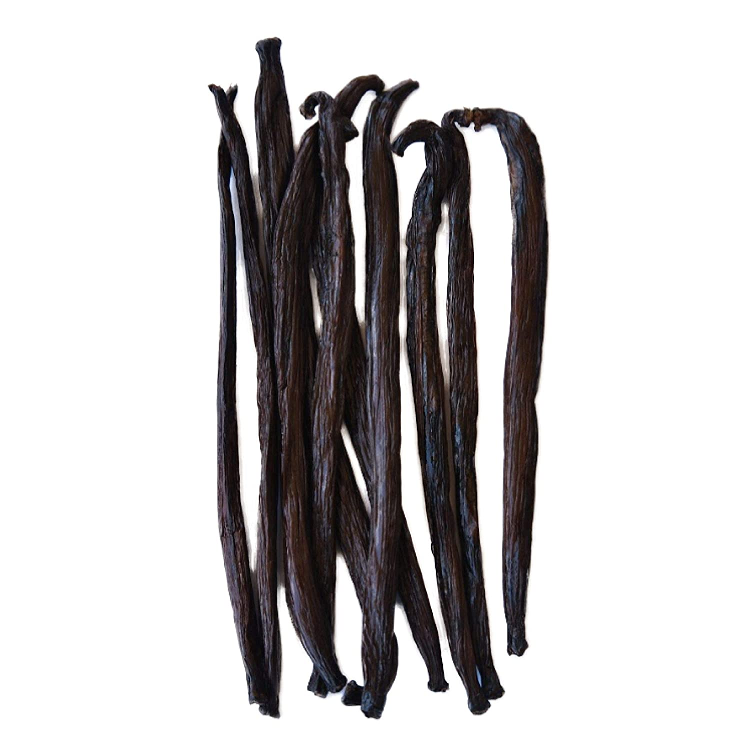 Native Vanilla Grade B Tahitian Vanilla Beans – 10 Premium Extract Whole Pods – For Chefs and Home Baking, Cooking, & Extract Making – Homemade Vanilla Extract