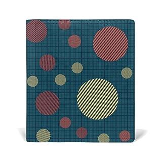 ALAZA Cerchi a strisce con plaid a scacchi percalle pelle riutilizzabile Copertina 9 x 11 pollici per le medie e Jumbo Dimensioni Rilegato testi scolastici Libri di testo