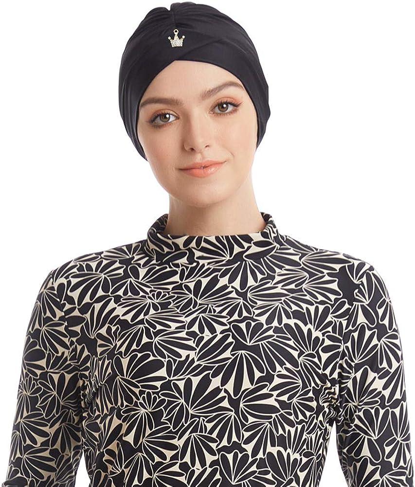 Costume da bagno burkini a lunghezza intera con hijab Nero 52 Seafanny
