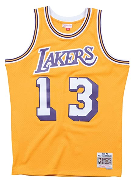 96cffa75270 Wilt Chamberlain Los Angeles Lakers NBA Mitchell   Ness Gold 1971-72  Hardwood Classics Swingman