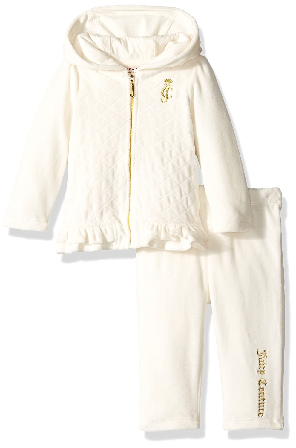 Amazon.com  Juicy Couture Baby 2 Pieces Quilted Jog Set 034f59f98