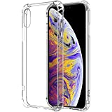 Designed for iPhone Xs/iPhone X Crystal Clear Slim Protective Shock Absorption Technology Bumper Soft Thermoplastic Polyureth