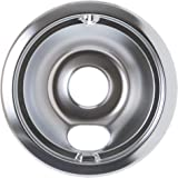 "GE WB32X5075 Genuine OEM 6"" Burner Drip Bowl (Chrome) for GE Electric Ranges"