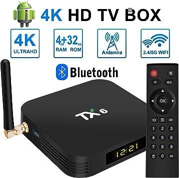 TV Box - TV Box Ultra HD Android 9.0 TV Box 4GB RAM 32GB ROM Dual WiFi
